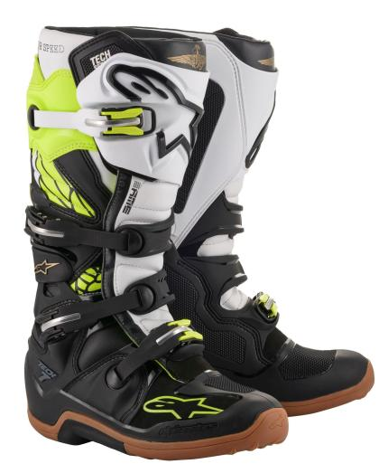 Alpinestars 2020 Tech 7 Seattle Limited Edition Black White Yellow Boots