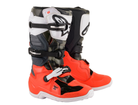Alpinestars 2019 Youth Tech 7S Megneto Limited Edition Orange and Camo Boots