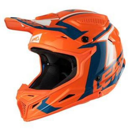Leatt 2018 GPX 4.5 V22 Junior Orange Denim Helmet