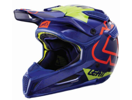 Leatt 2018 GPX 5.5 V15 Blue Lime Helmet