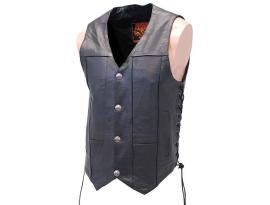 Milwaukee Men's Classic Side Lace Biker Vest