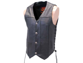 Milwaukee Men's Side Lace with Buffalo Snaps Vest