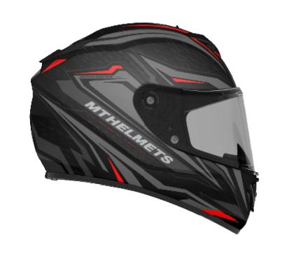 MT Rapide Meteor Matte Black Anthracite and Red Helmet