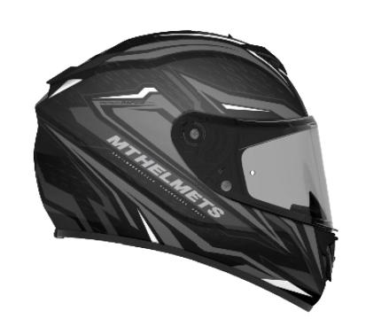 MT Rapide Meteor Matte Black Anthracite and White Helmet