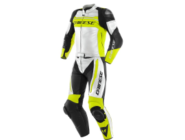 Dainese Mistel 2 piece White Yellow and Black Suit