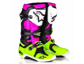 Alpinestars 2017 LE Radiant Tech 10 Black Pink Yellow Boots