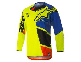 Alpinestars 2018 Techstar Factory Yellow Blue Jersey
