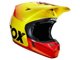 Fox 15 V3 40 year Limited Edition Helmet Yellow Red