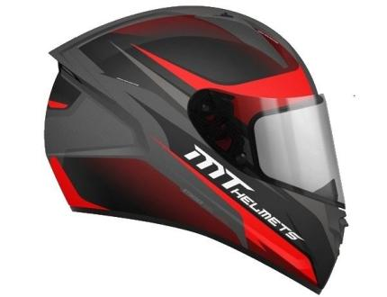 MT Stinger Divided Gunmetal Red Helmet