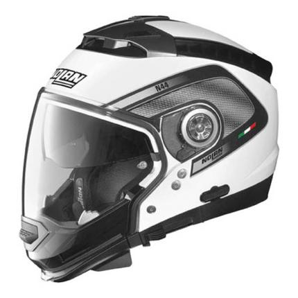 Nolan N-44 Tech Graphic White Helmet