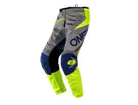 Oneal 2020 Youth Element Factor Grey Blue Yellow Pants