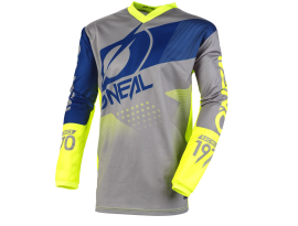 Oneal 2020 Element Factor Grey Blue Yellow Jersey