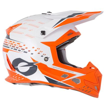 Oneal  2020 5 Series Trace White/Orange Helmet