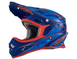 Oneal 3 Series Hurricane Blue/Red Helmet 2016 - Adult