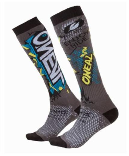 Oneal 2019 Pro Villian Grey MX Socks