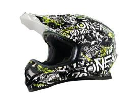 Oneal 2019 Youth 3 Series Attack Black Hi Viz Helmet