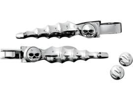 Chrome Zombie Levers in Chrome for 2004-2011 Sportster Models