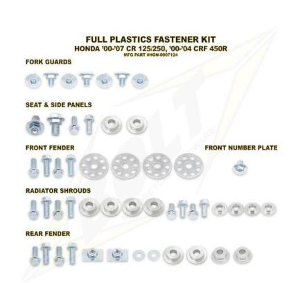 Bolt Plastic Bolt Kit for Honda