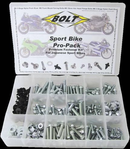 Bolt Motorbike Universal Fasteners Pro Pack for Sportsbikes