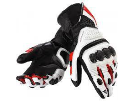 Dainese Pro Carbon Black/White/Red Gloves - Mens
