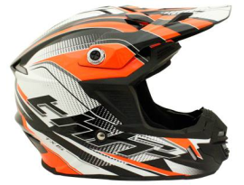 THH Youth TX-15 Race Black Fluro Orange Helmet