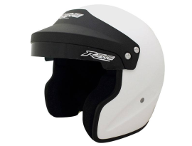 Rjays Rally II White Open Face Helmet with M6 Terminals