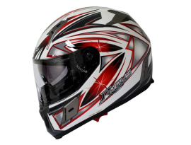 Rjays Dominator + Cosmos Red White Carbon Helmet