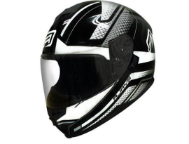 Rjays Dominator II Prism Black White Helmet