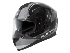 Rjays Dominator II Strike Black Grey Helmet