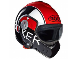 Roof Boxer V8  Grafic Black Red Helmet