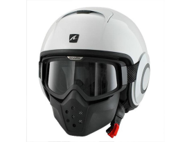 Shark Raw Blank White Helmet