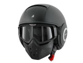 Shark Raw Blank Matte Black Helmet