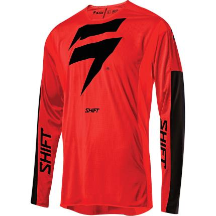 Shift 2020 3lack Label Race Red and Black Jersey