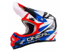 Oneal 3 Series Shocker Blue Red Helmet 2018 - Youth