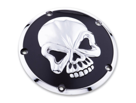 Zodiac Ignition Cover Skull 70-99 Evo Big Twins - Black/Chrome