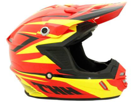 THH TX-15 Slipstream Red Yellow Black Helmet