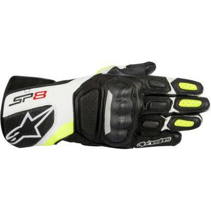 Alpinestars SP8 V2 Gloves Black/White/Fluro