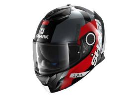 Shark Spartan Apics Black Red Helmet
