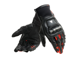 Dainese Steel-Pro In Black and Red Gloves
