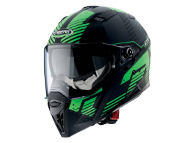 Caberg Stunt Blizzard Matt Black/Green Helmet