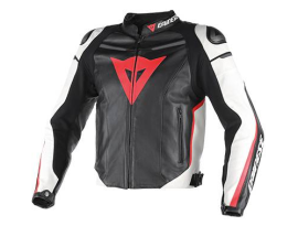 Dainese Super Fast Pelle Estivo Black White Red Jacket