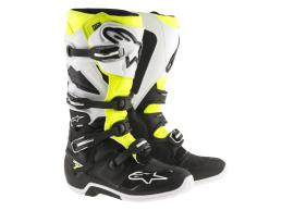 Alpinestars Tech 7 Black White Yellow Boots 2017