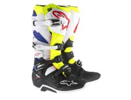 Alpinestars Tech 7 White Yellow Blue Boots 2017