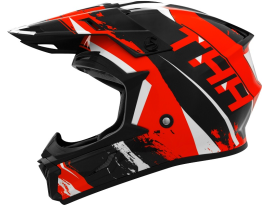 THH T710X Rage Black Red Helmet
