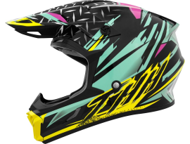 THH Youth T710X Assault Teal Yellow Helmet