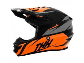 THH Youth TX-15 Loto Orange and Grey Helmet
