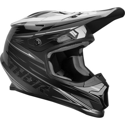 Thor 2020 Sector Warp Charcoal and Black Helmet