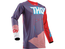Thor 2018 Youth Pulse Geotec Red Blue Jersey