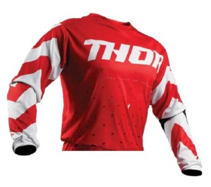 Thor 2019 Pulse Smoke Red White Jersey