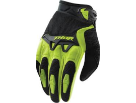 Thor 2018 Youth Spectrum Green Black Gloves